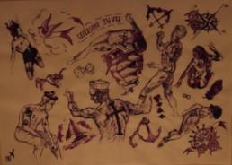 tatouages et univers marin