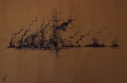 flotte de navires de combat
